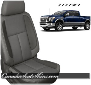 2016 Nissan Titan Grey Leather Seats