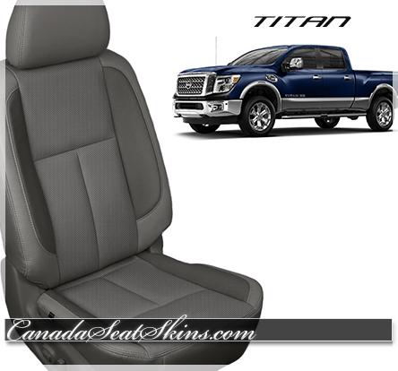 Nissan Titan Grey Leather Seat Photo