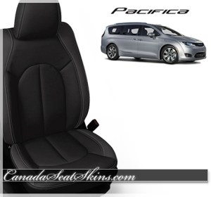 2017 Chrysler Pacifica Black with Charcoal Seats