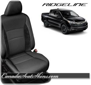 2017 Honda Ridgeline Black Suede Leather Seats