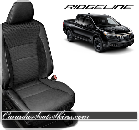 2017 Honda Ridgeline Black Suede Leather Seats