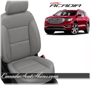 2017 GMC Acadia Ash Grey Katzkin Leather Seats