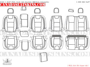 2015 - 2017 F150 Special Edition Leather Interior Schematic