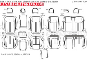 2015 - 2017 Ford F150 Limited Edition Leather Interior Schematics