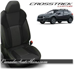 2018 Subaru Crosstrek Katzkin Lime Green Leather Seats