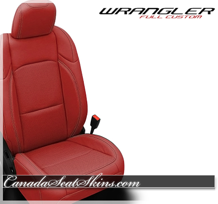 2019 Jeep Wrangler Red Leather Katzkin Custom Seats