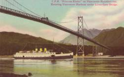 The Princess Elaine was built in 1928 for the Vancouver Ferry System and was a jewel of the ferries at the time. Postcard is about 1930s.