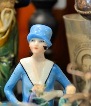 Flapper Porcelain Figurine from Vintage Shop in Toronto