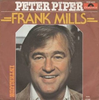 """The single cover for Frank Mills' single """"Peter Piper,"""" which won two Juno Awards in 1980 and reached #48 on the U.S. singles charts."""