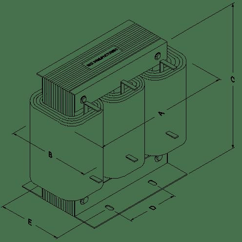 60 Amps 480-600 Volt Line Reactor 3PR-0060C3H