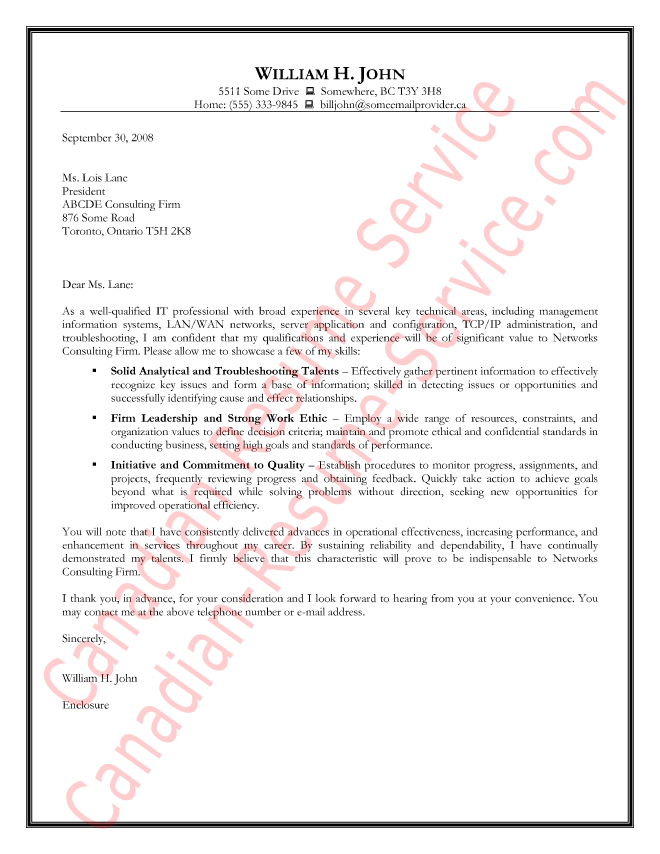 Cover letter examples information technology