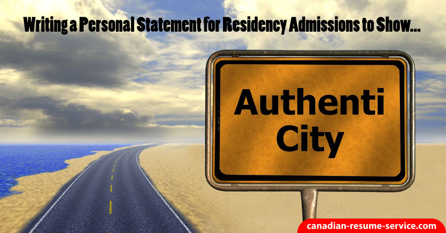 Writing a Personal Statement for Residency Admissions