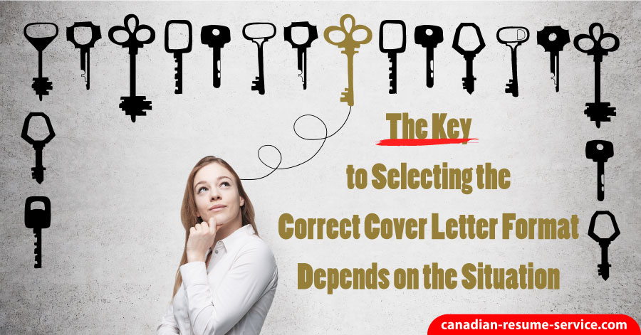The Type of Cover Letter Format Depends on The Situation
