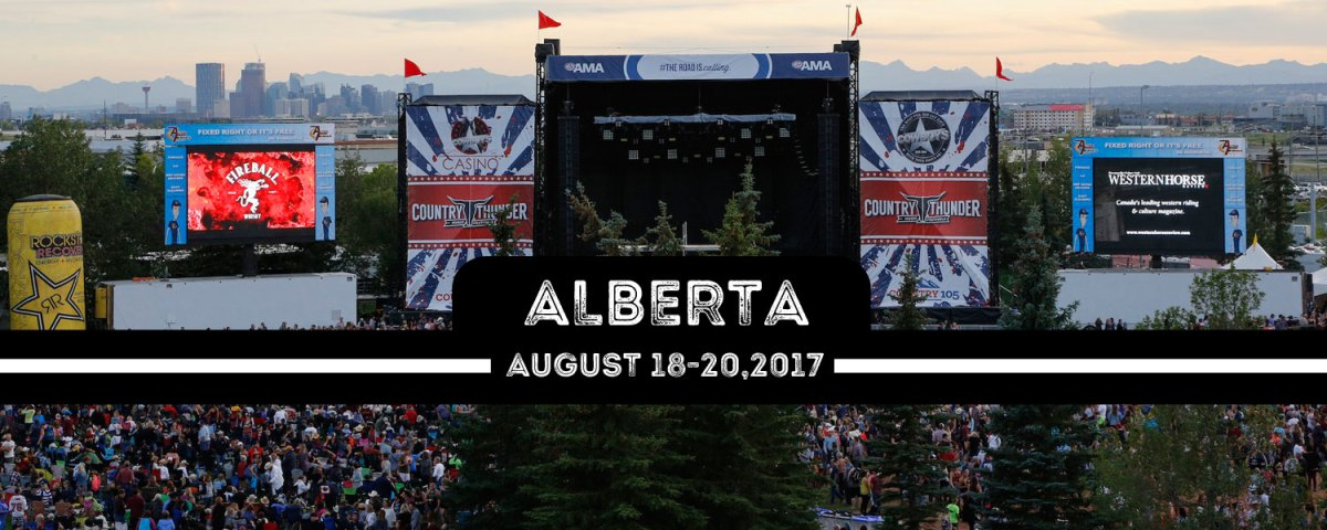 Country Thunder Calgary is back for 2017 with a massive lineup