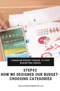 CANADIAN BUDGET BINDER 10 STEP BUDGETING SERIES- choosing categories