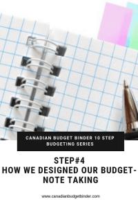CANADIAN BUDGET BINDER 10 STEP BUDGETING SERIES-4 NoteTaking