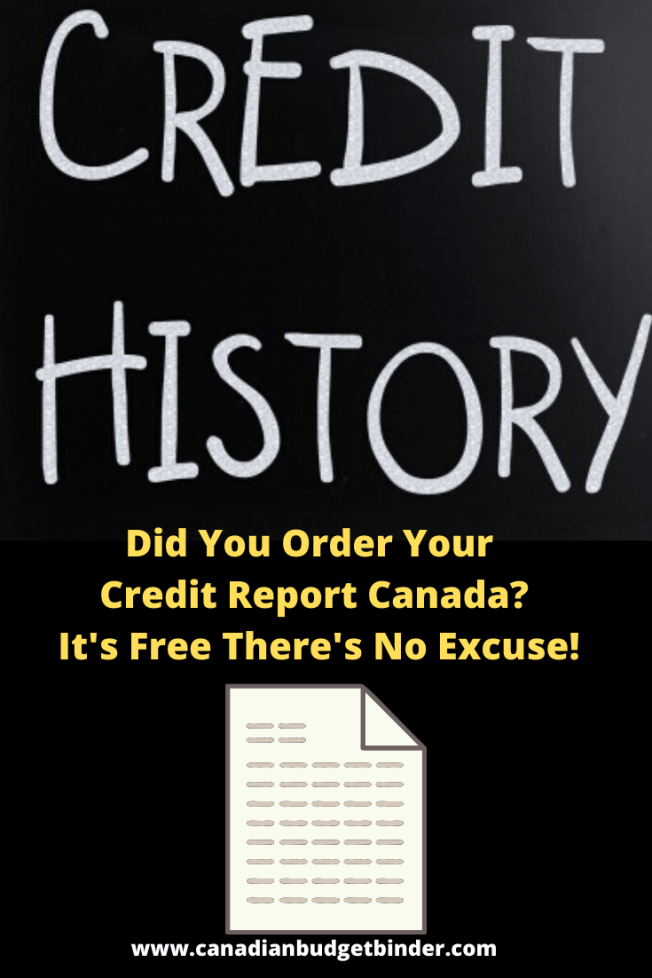 Free Canadian credit report