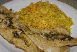 Fried fish with Indian Rice