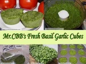 Too Much Fresh Basil? Try Mr.CBB's Basil Garlic Cubes
