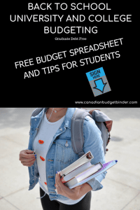 how to make a student budget