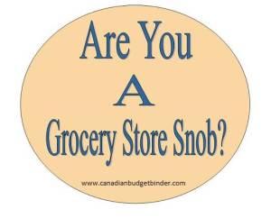 grocery store snob