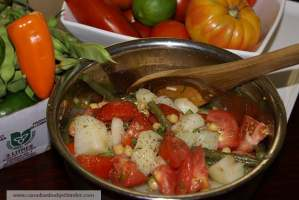 Mr.CBB's Tomato Salad With Potato,Green Beans and Chick Peas