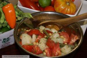 "Mr.CBB""s Tomato Potato Salad with Green Beans and Chick Peas"