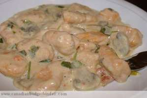 Mr.CBB's Roasted Red Pepper Gnocchi In A Creamy Mushroom Sauce