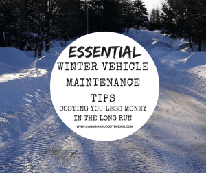 Winter Vehicle Maintenance Costing You Less In The Long Run