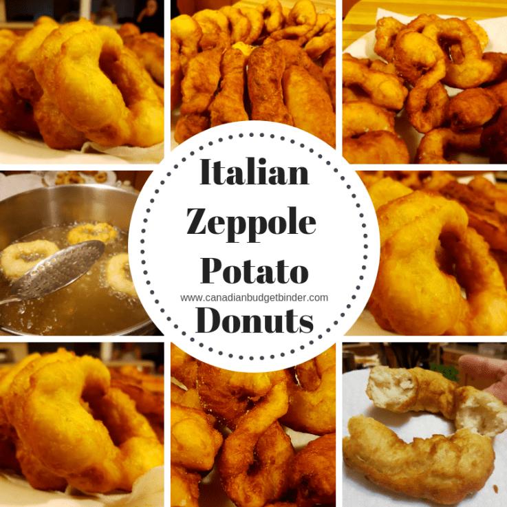 italian zeppole potato donuts or British Spudnuts