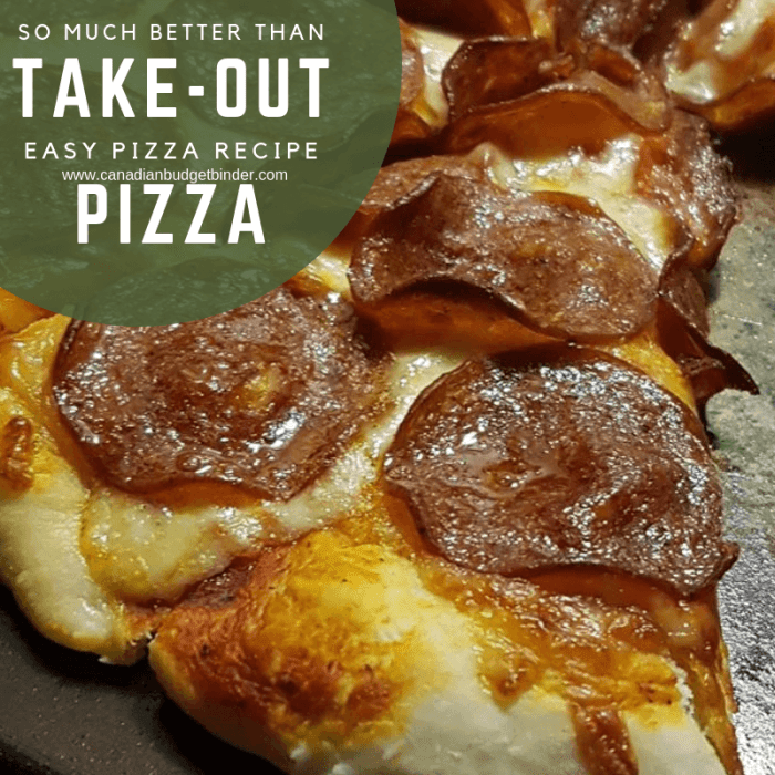so much better than take-out pizza Mrs. CBB's easy pizza 2