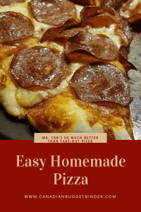 so much better than take-out pizza Mrs. CBB's easy pizza 3
