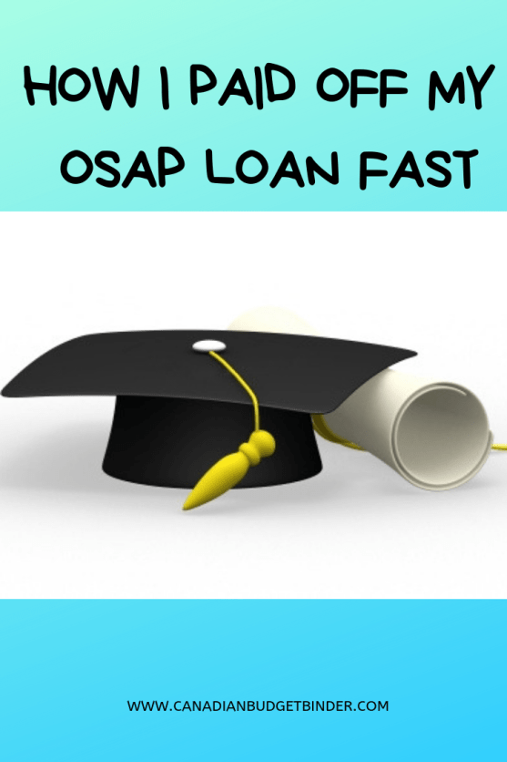 HOW I PAID OFF MY OSAP LOAN FAST