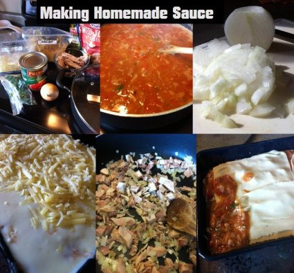 making homemade sauces