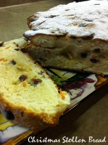 Stollen bread for the Christmas holidays