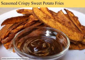The best seasoned crispy sweet potato fries