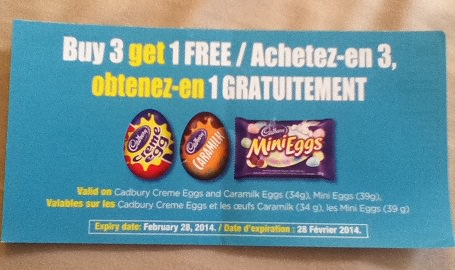 buy 3 get 1 free cadbury coupon