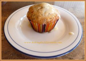 maple glazed poppy seed muffin