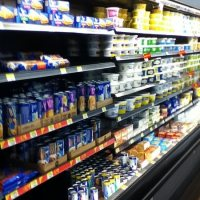 dairy section grocery store