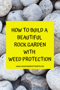 HOW TO BUILD A BEAUTIFUL ROCK GARDEN WITH WEED PROTECTION