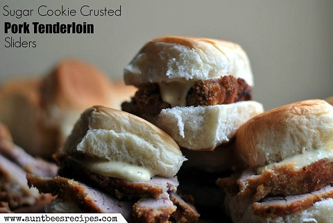 sugar cookie coated pork tenderloin sliders