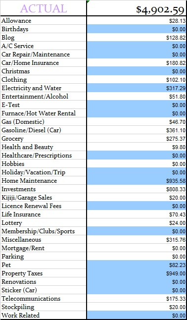 June 2014 Actual Expenses