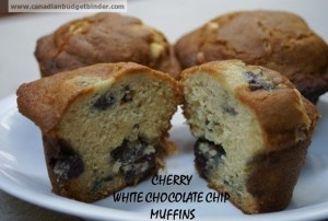 White Chocolate Cherry Muffin