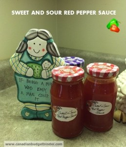 sweet and sour red pepper sauce