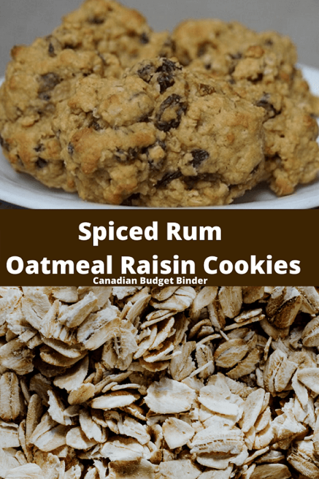Spiced Rum Oatmeal Cookies