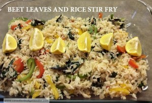 Beet leaves and Rice Stir Fry