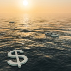 free money floating on water