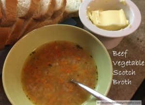Scotch Broth with root vegetables and beef