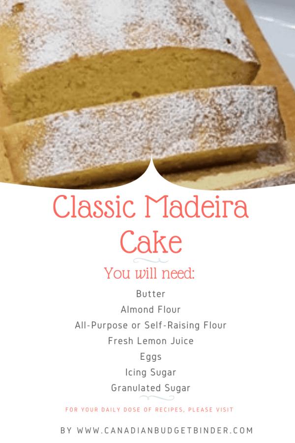 Orange Madeira Cake