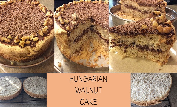 how to make hungarian walnut cake